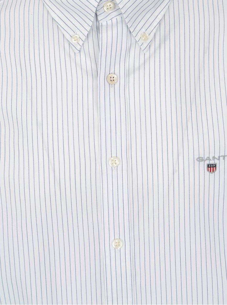 Bílá pruhovaná pánská slim košile GANT