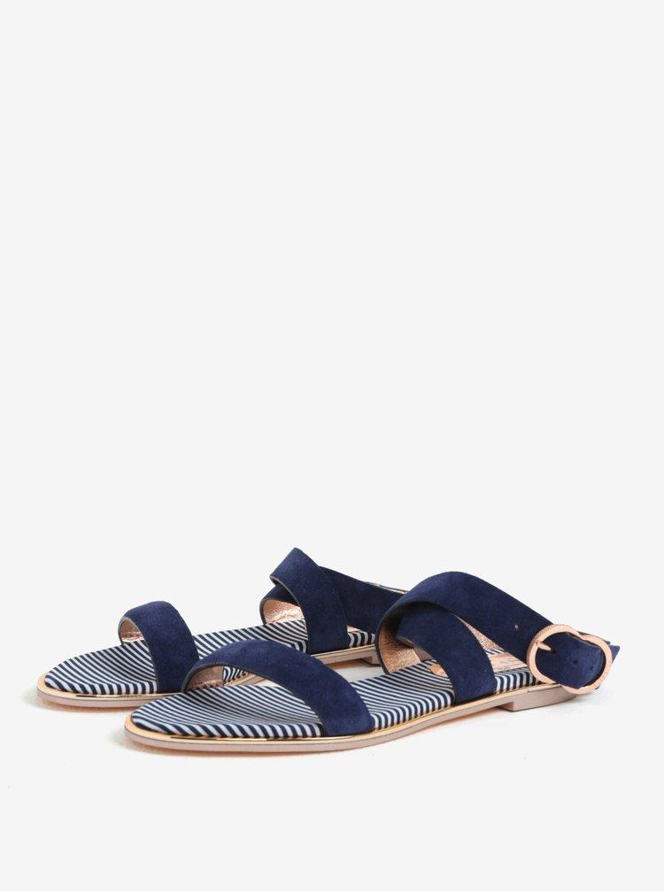 Tmavomodré dámske semišové sandále Ted Baker Qeredas