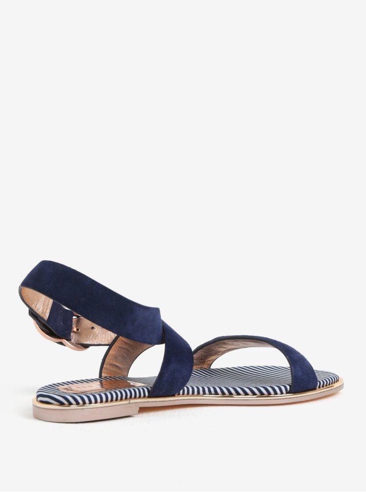 Tmavě modré dámské semišové sandály Ted Baker Qeredas