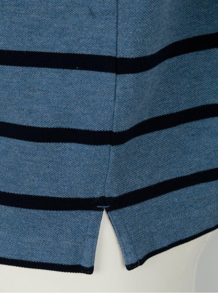 Modré pruhované pánské polo tričko GANT
