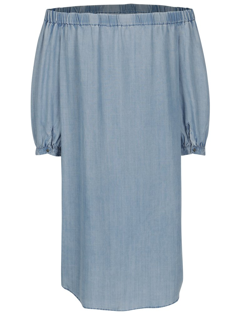 Rochie din denim albastra cu maneci 3/4 - ONLY Janice