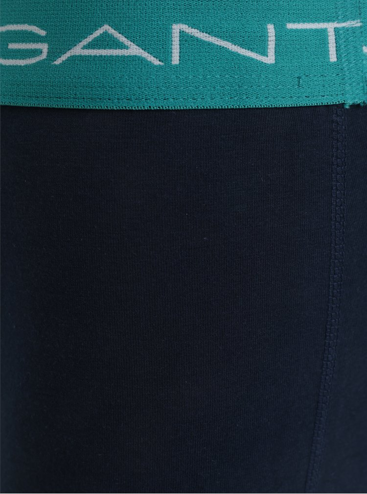Sada tří boxerek v modro-zelené barvě GANT