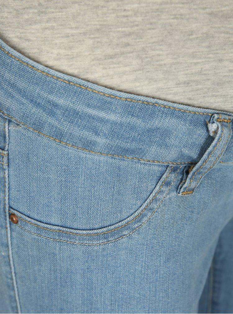 Světle modré těhotenské slim džíny Mama.licious Julia