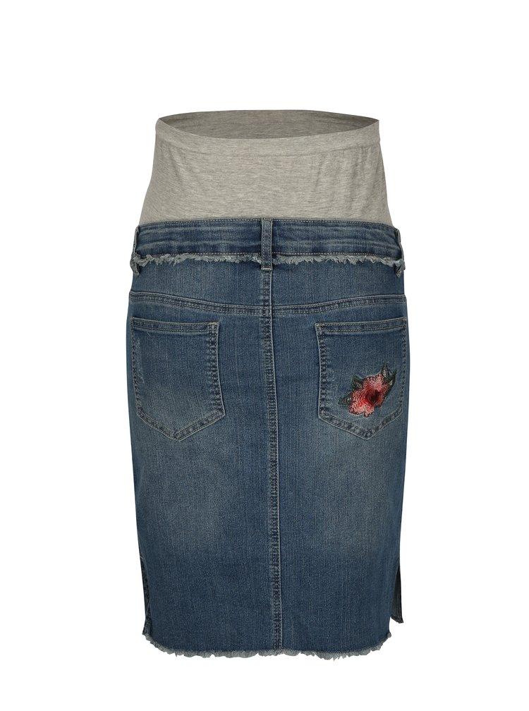Modrá těhotenská džínová sukně Mama.licious Riga