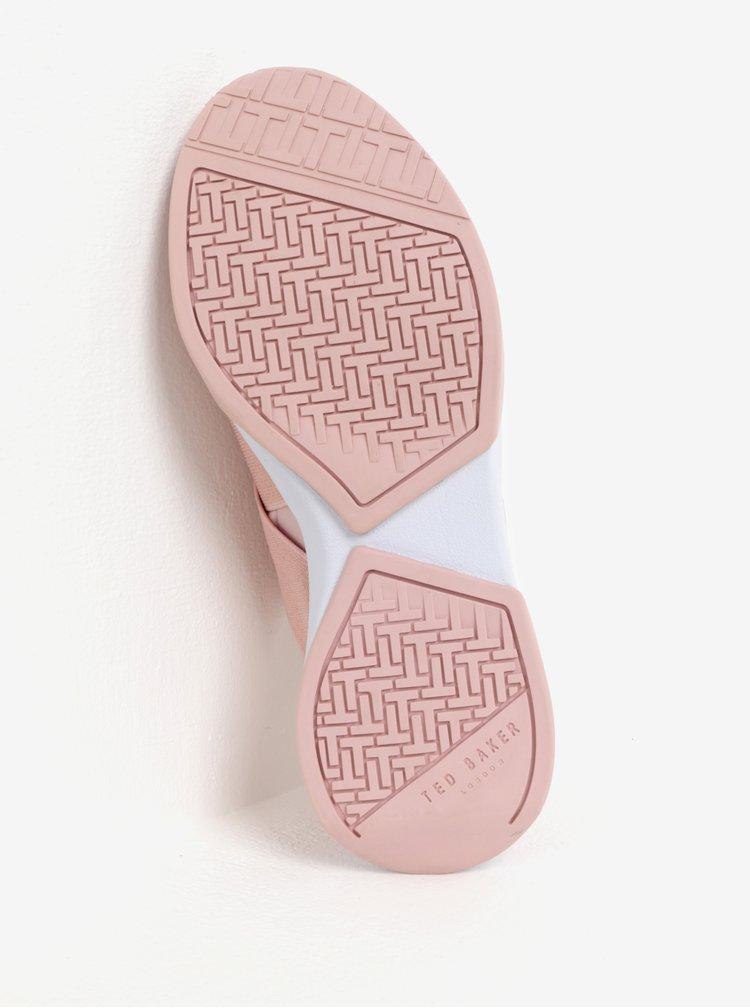 Pantofi sport roz prafuit cu benzi elastice Ted Baker Queane