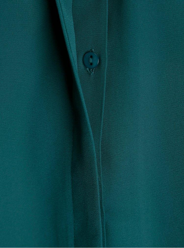 Bluza albastru petrol cu nasturi - VILA Lucy
