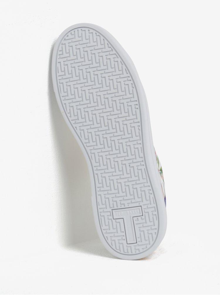 Krémovo-bílé dámské tenisky s koženými detaily Ted Baker Ahfira