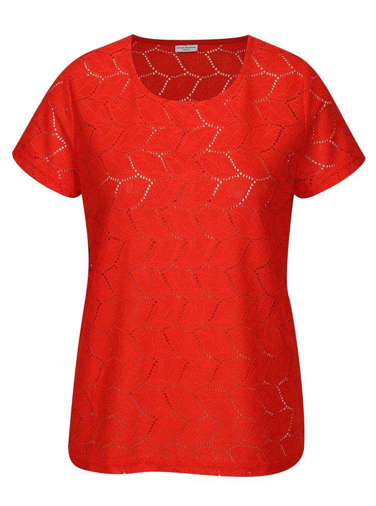 Červená vzorovaná halenka Jacqueline de Yong Tag