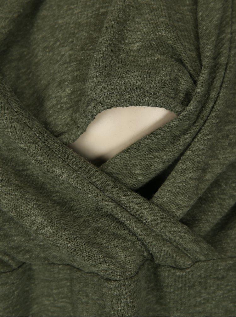 Tmavě zelené kojicí tričko s krajkovými detaily Mama.licious Elenoir