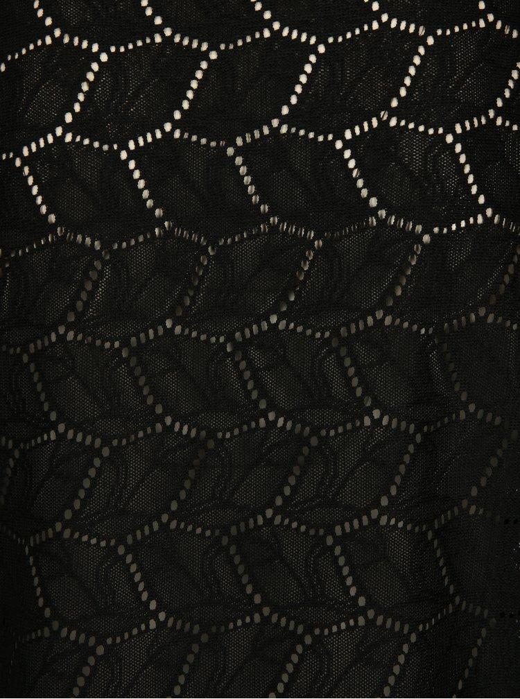 Černá vzorovaná halenka Jacqueline de Yong Tag
