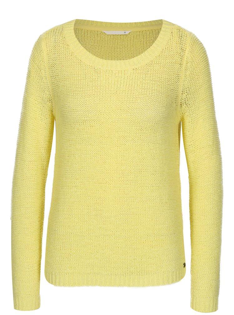 Žlutý průsvitný pletený svetr ONLY Geena