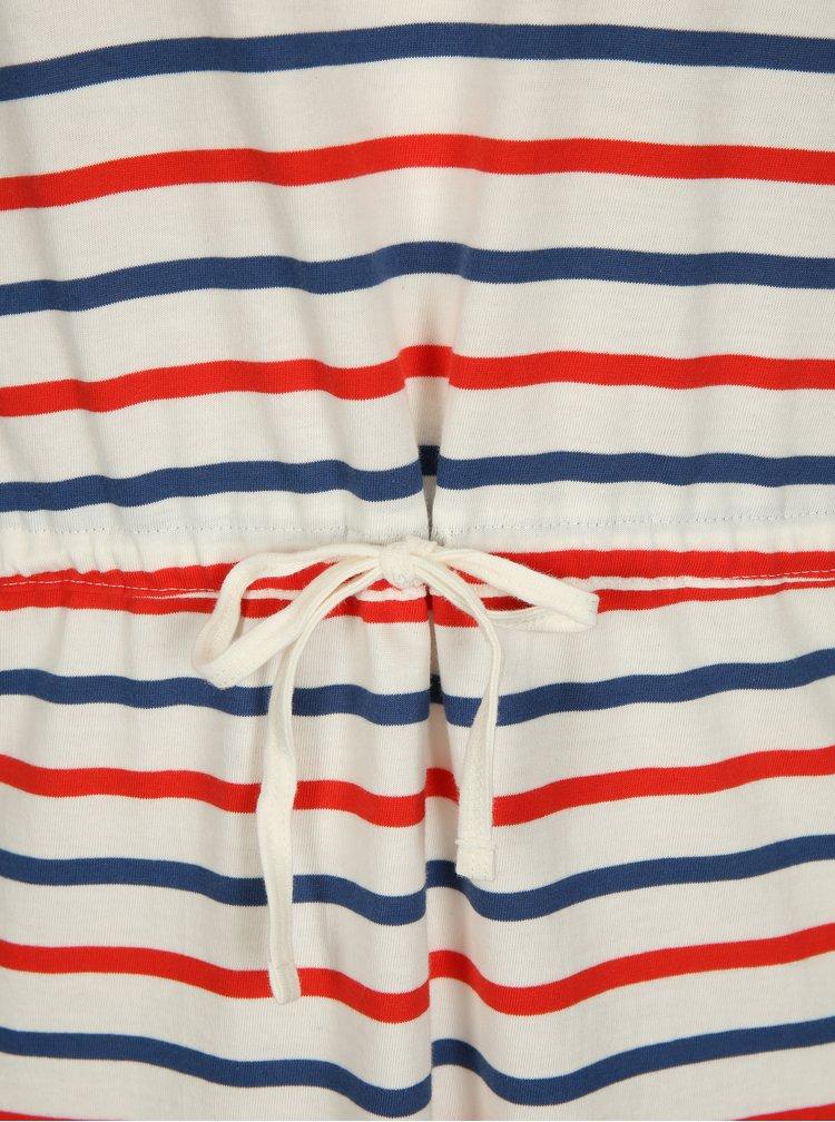 Krémové pruhované šaty s krátkým rukávem ONLY May