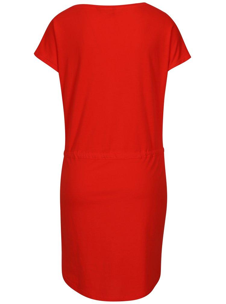 Červené šaty s krátkým rukávem ONLY May