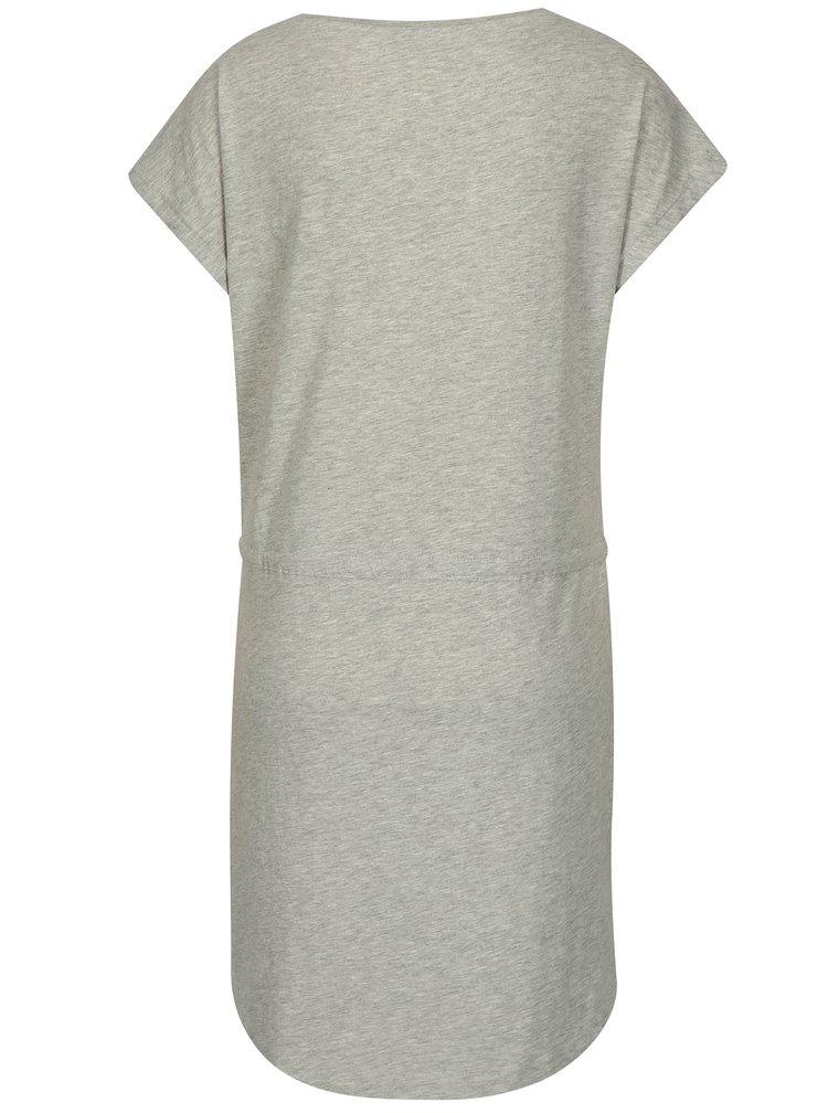 Sivé melírované šaty s krátkym rukávom ONLY May
