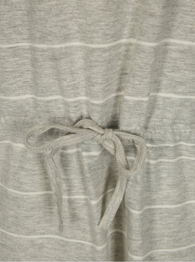Šedé pruhované žíhané šaty s krátkým rukávem ONLY May