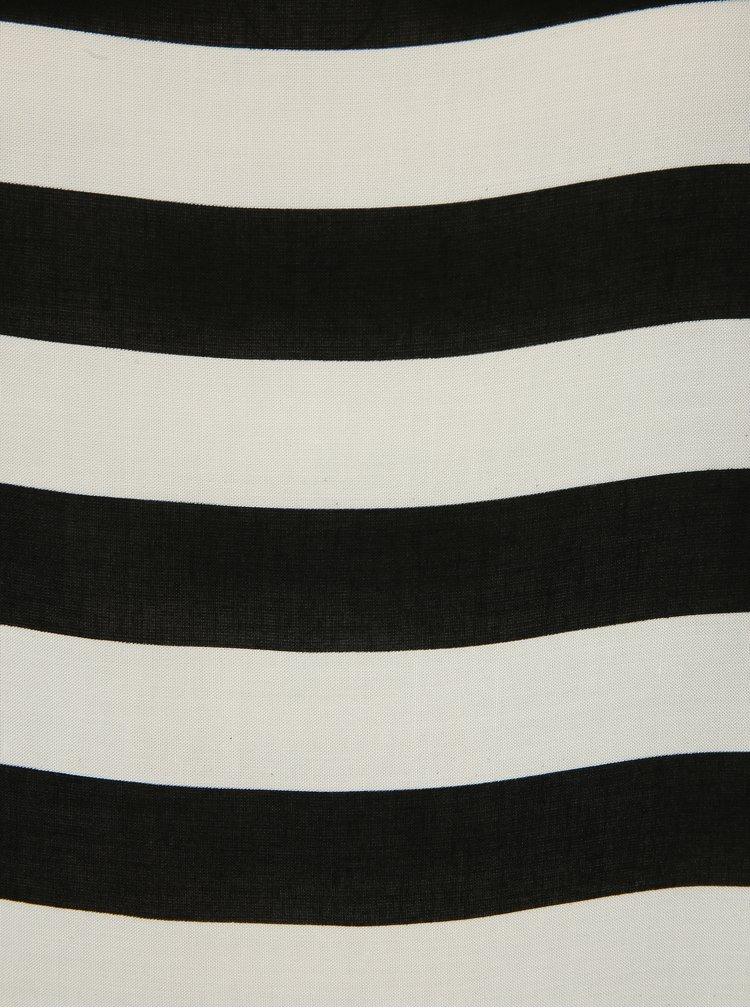 Bílo-černý pruhovaný volný top ONLY First