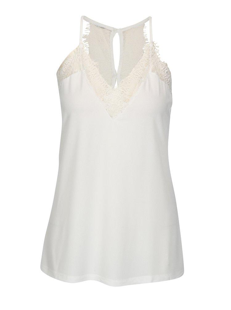 Biele tričko s čipkou VERO MODA Milla