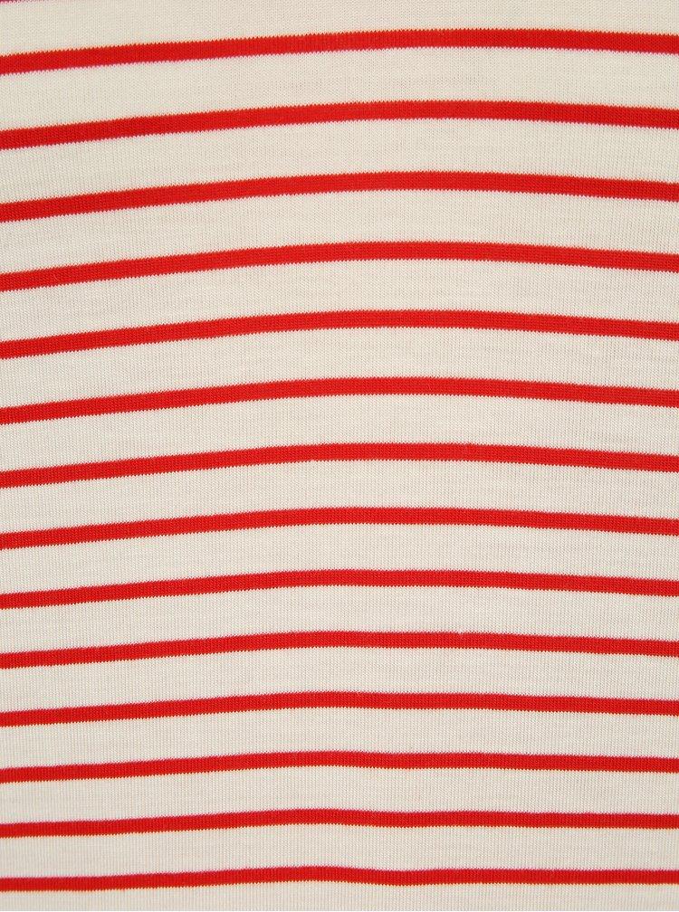 Tricou cu dungi alb cu rosu ONLY Sannie