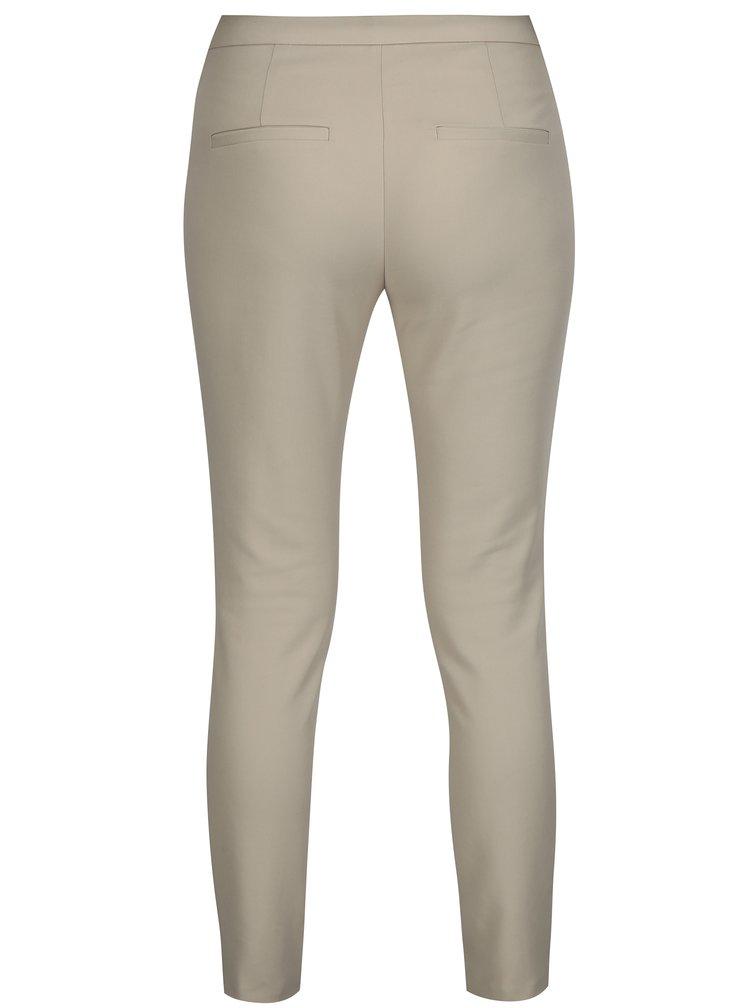Béžové kalhoty Selected Femme Muse
