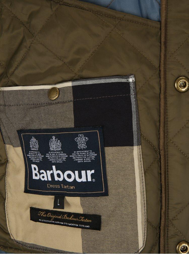 Khaki prošívaná lehká bunda Barbour Glyne