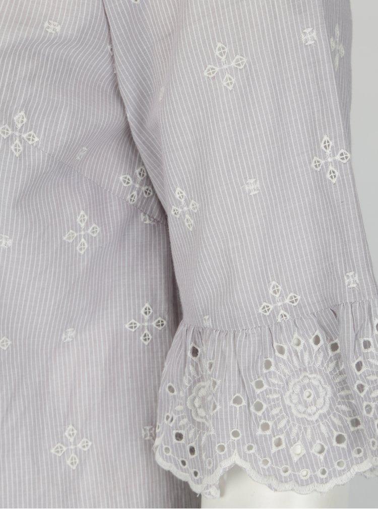 Krémovo-šedá vzorovaná halenka M&Co