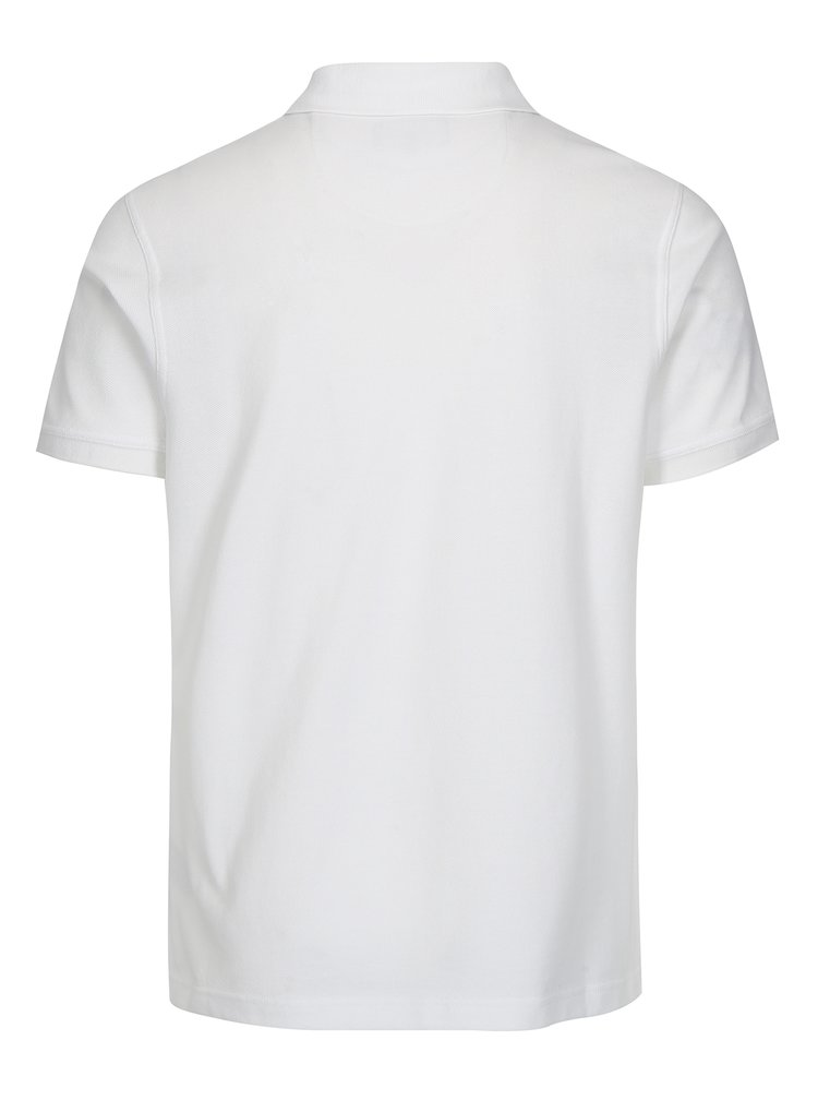 Bílé polo tričko s výšivkou Barbour Sports