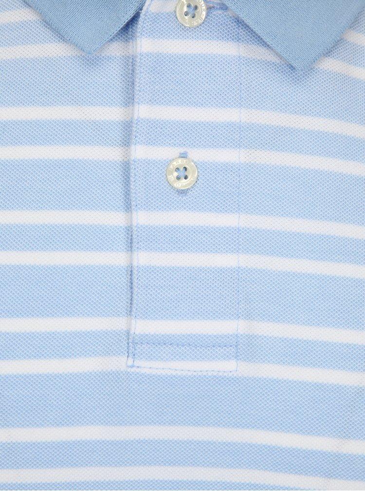 Světle modré pruhované polo tričko Barbour Bedford