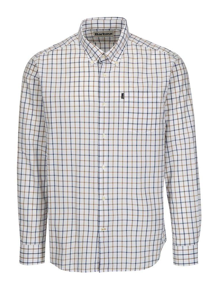 Modro-bílá kostkovaná tailored fit košile Barbour Henry