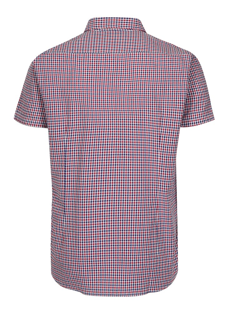 Camasa tailored fit rosu & albastru cu model carouri - Barbour Newton