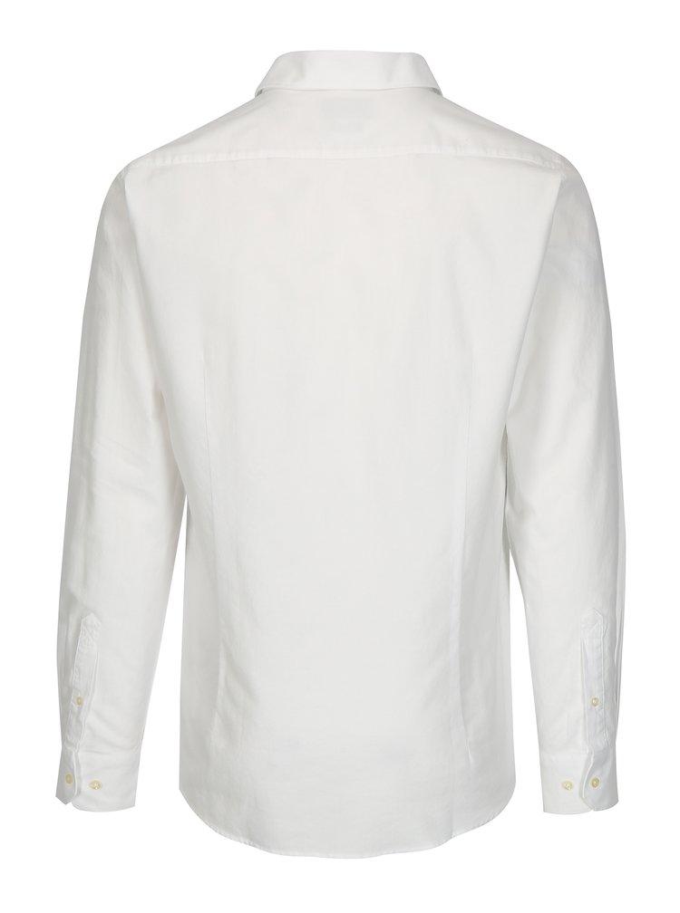 Bílá tailored fit košile s dlouhým rukávem Barbour Stanley