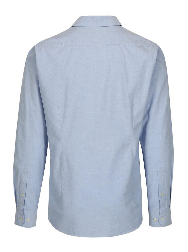 Světle modrá tailored fit košile s dlouhým rukávem Barbour Stanley