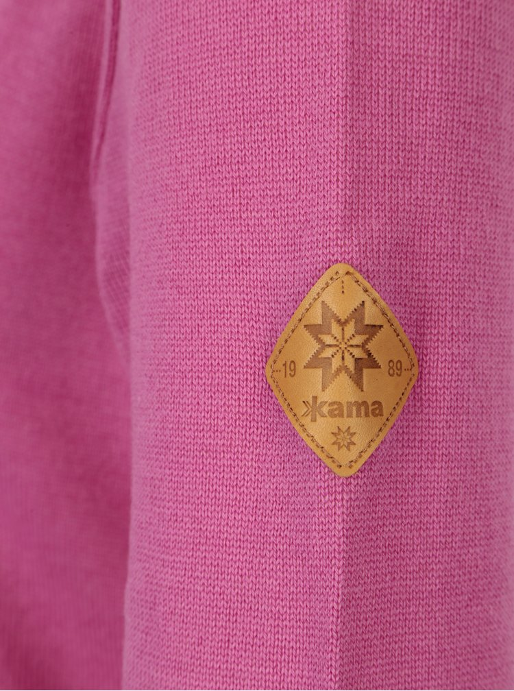 Růžový dámský svetr z Merino vlny Kama