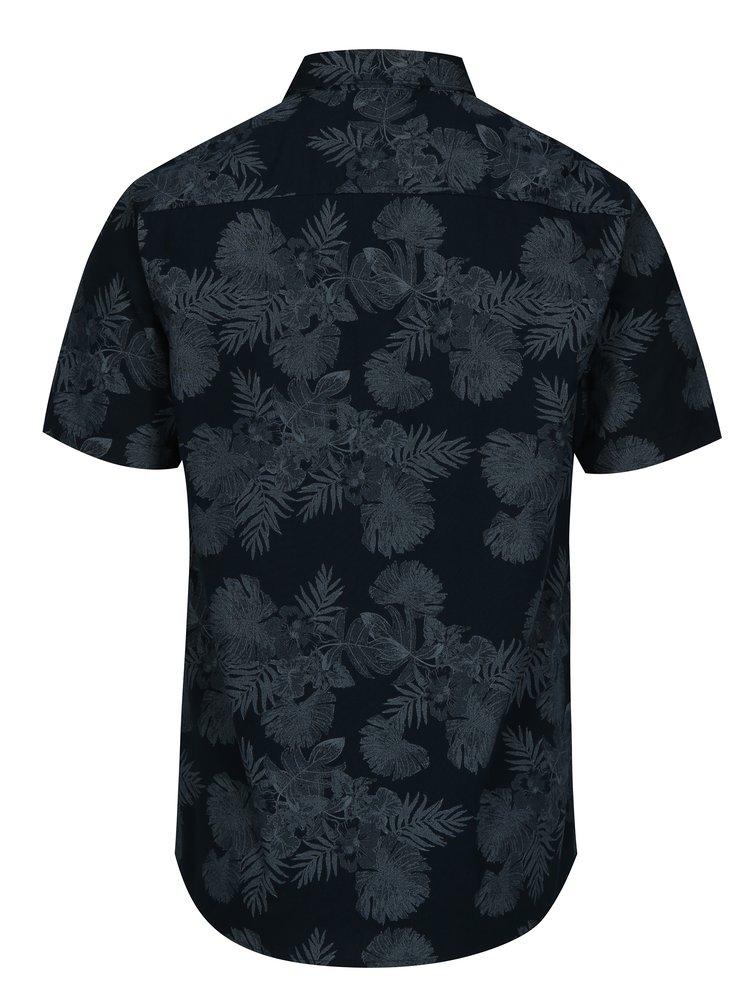 Tmavě modrá slim fit vzorovaná košile s krátkým rukávem ONLY & SONS Nelson