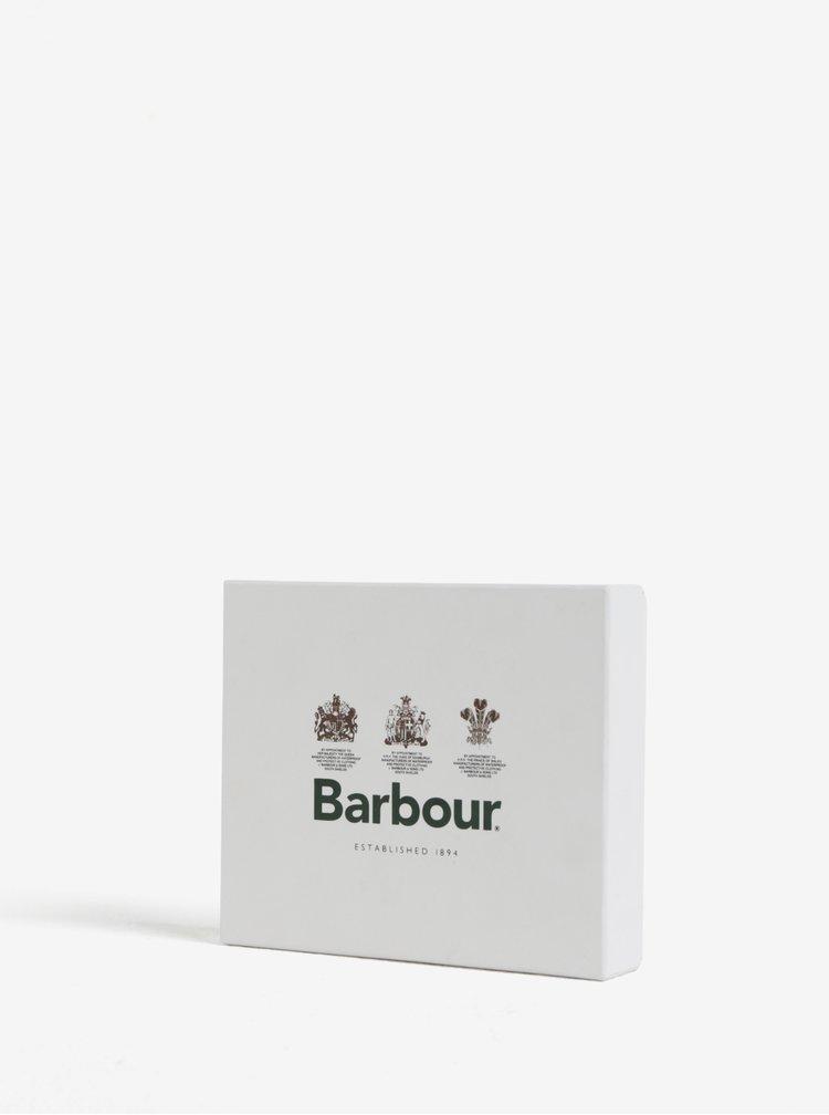 Černá kožená peněženka Barbour Grain