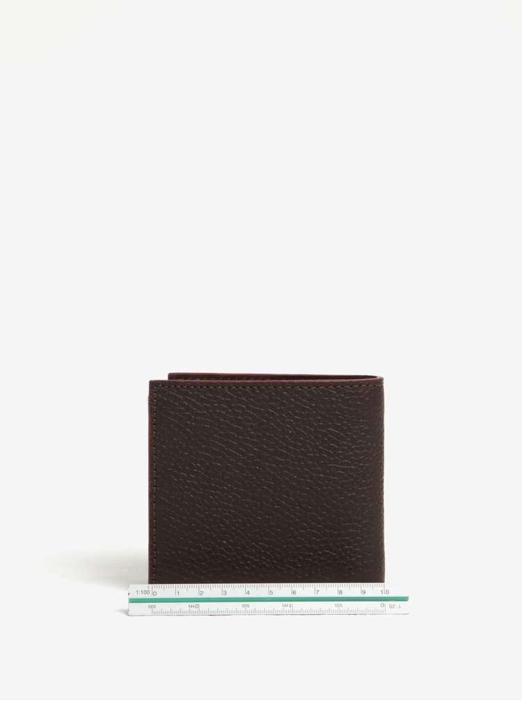 Tmavě hnědá kožená peněženka Barbour Grain