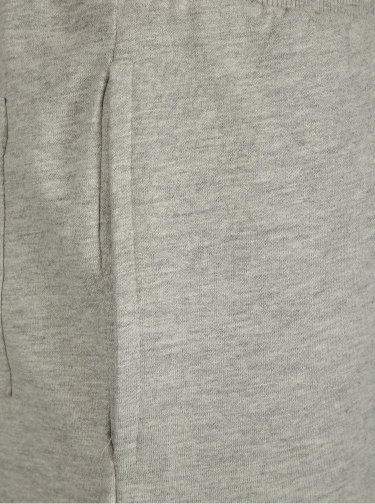 Světle šedé teplákové kraťasy ONLY & SONS Stripe