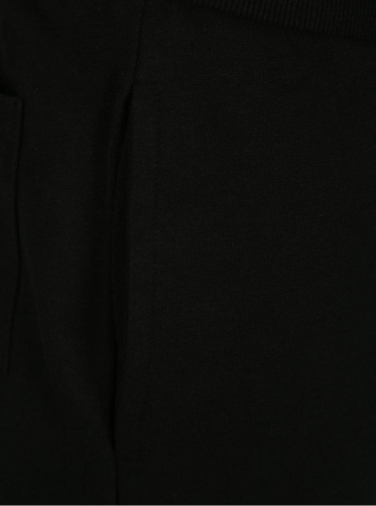 Černé teplákové kraťasy ONLY & SONS Stripe