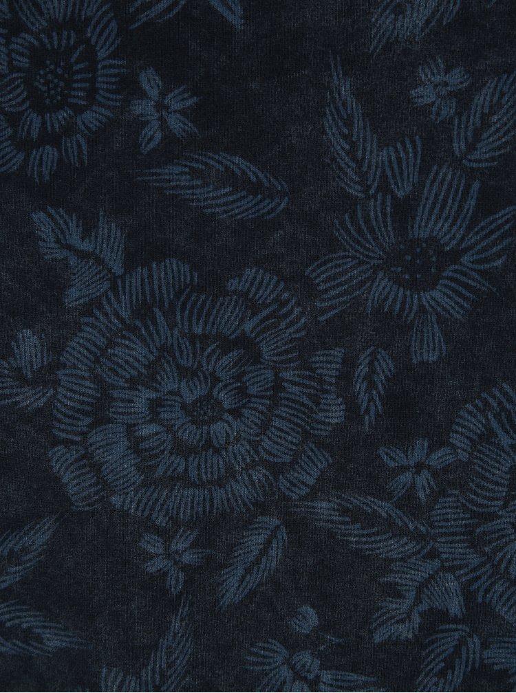 Tmavě modrá vzorovaná mikina ONLY & SONS Kasper