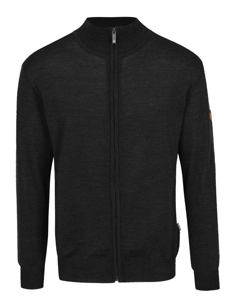Tmavě šedý svetr z Merino vlny Kama