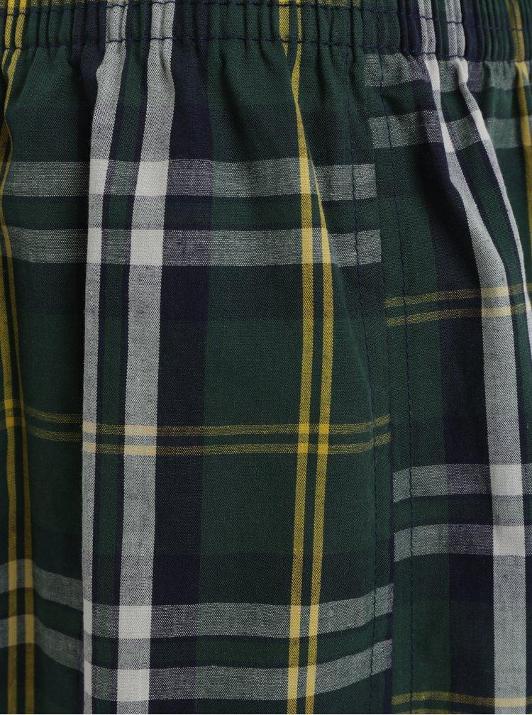 Tmavě zelené kárované trenýrky Represent Alibox