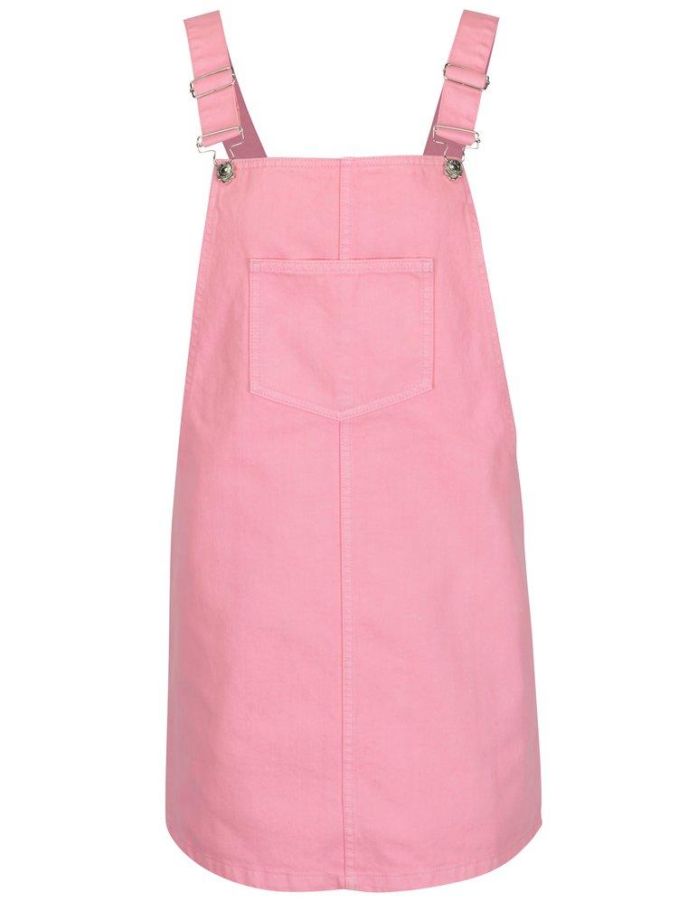 Růžové džínové šaty s laclem ONLY Francesis