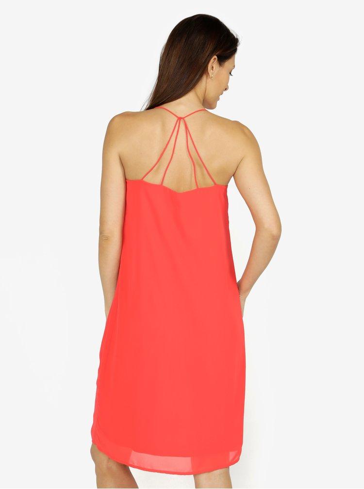 Červené šaty na ramínka VERO MODA Diana