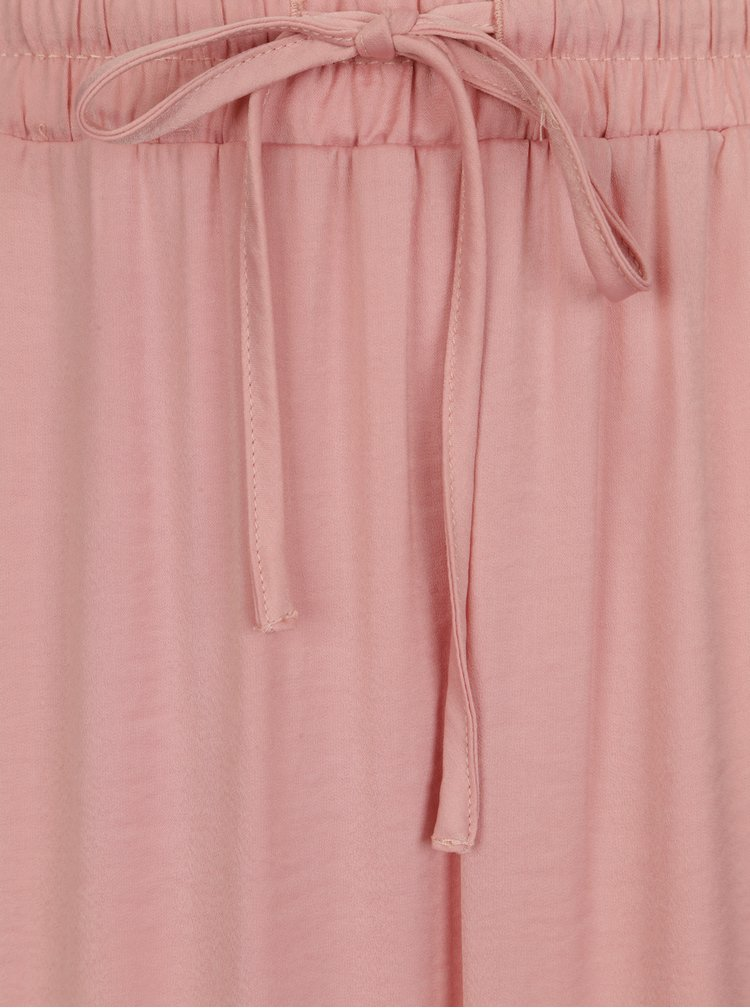 Fusta maxi roz cu slituri si snur in talie -  VILA Cava