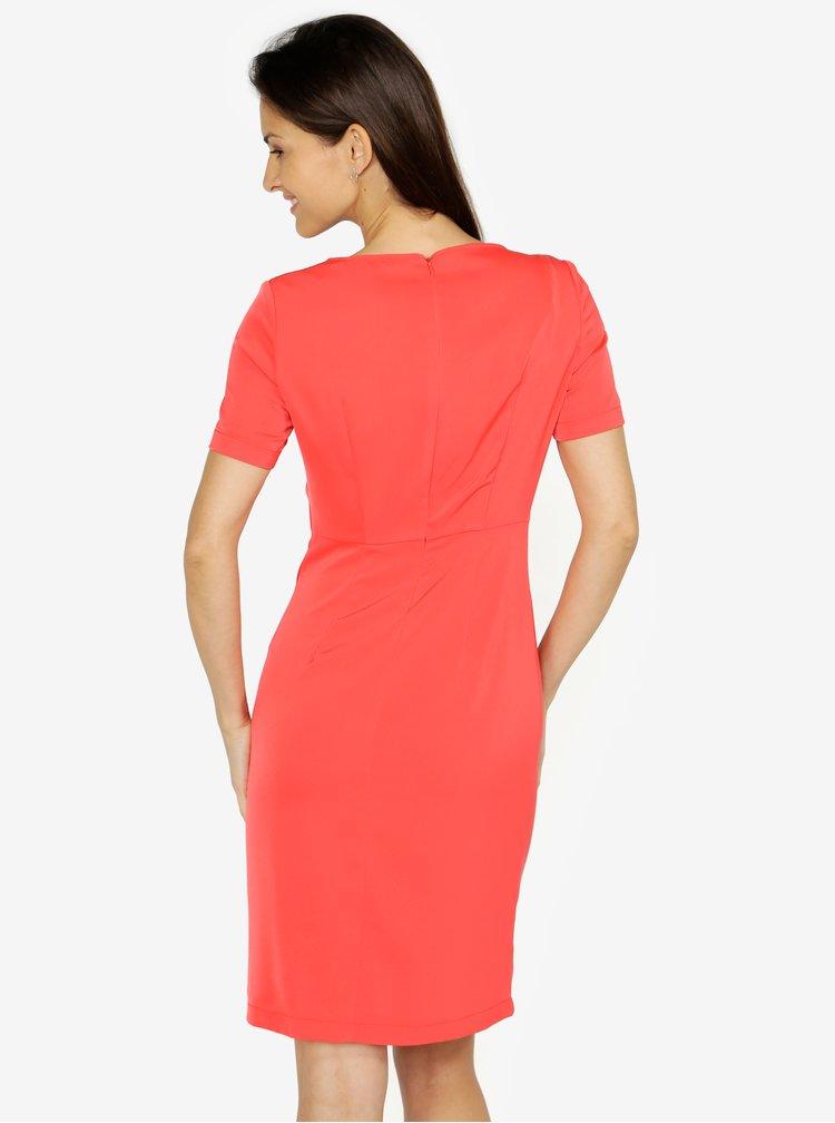 Červené šaty s volánom VERO MODA Snack