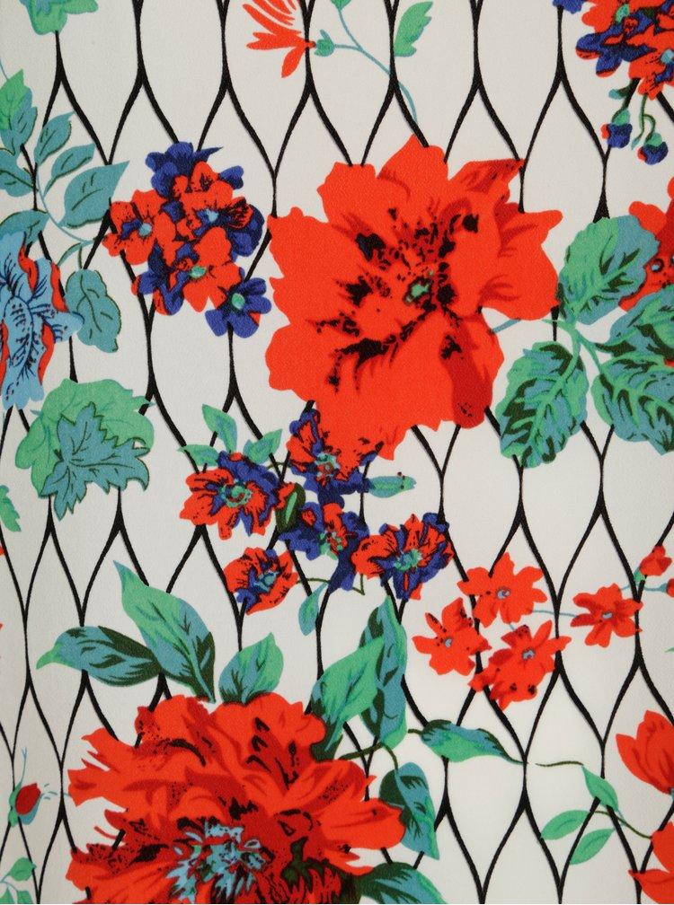 Krémové šaty s květinovým vzorem La Lemon