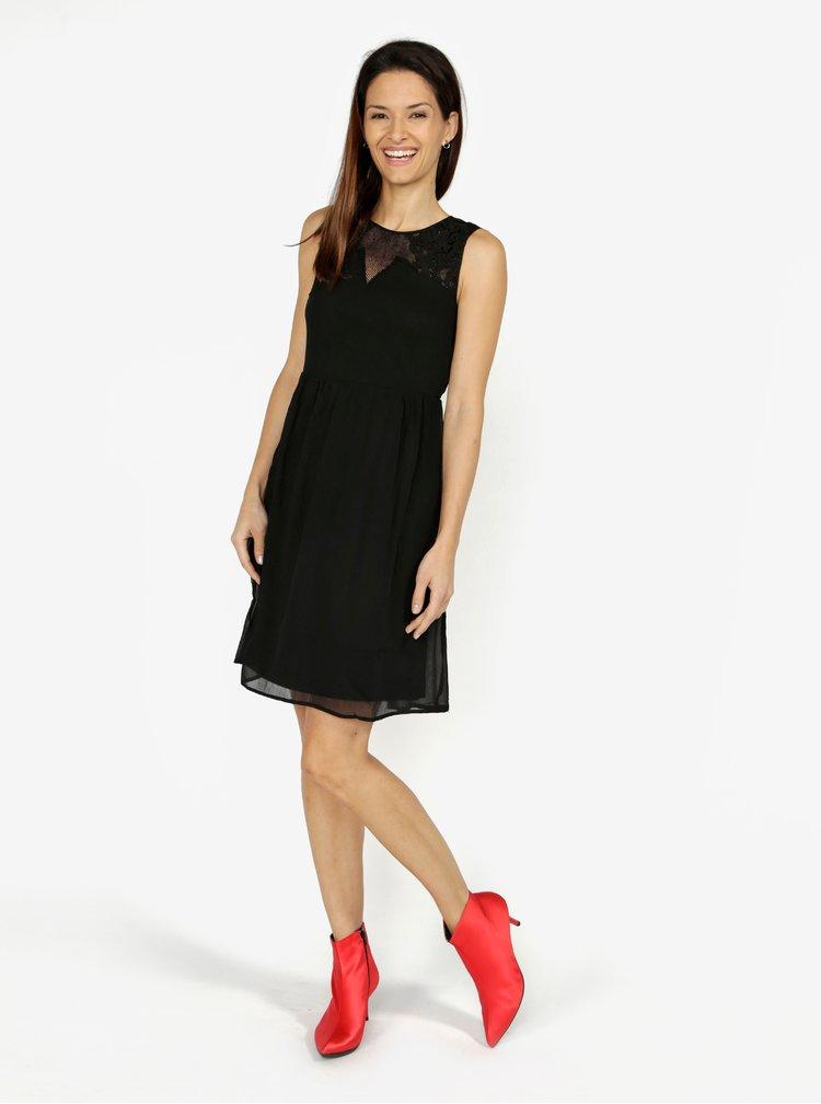 Černé šaty s krajkou VERO MODA Dacey
