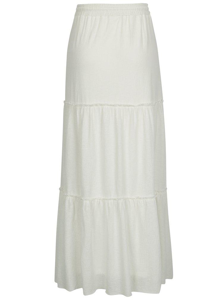Krémová třpytivá maxi sukně VILA Petra