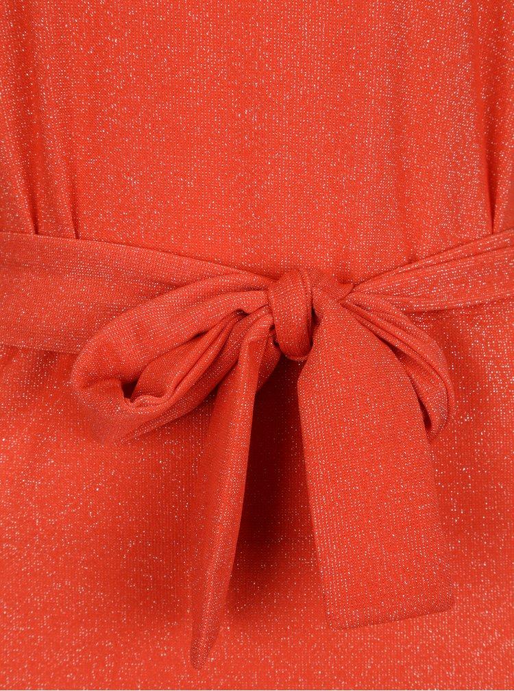 Rochie maxi corai cu aspect stralucitor - VILA Lejana