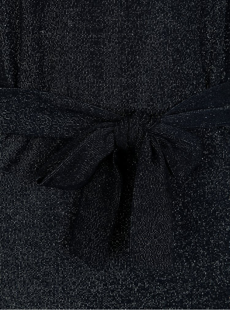 Tmavě modré třpytivé maxišaty VILA Lejana