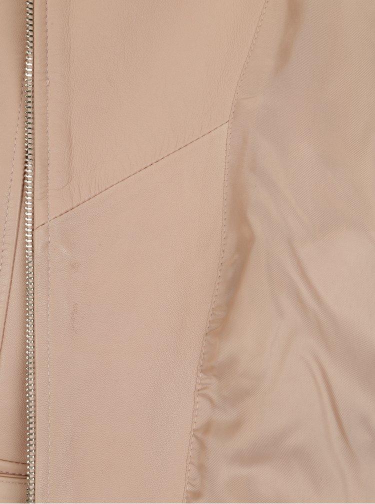 Starorůžový kožený křivák VILA Ellas